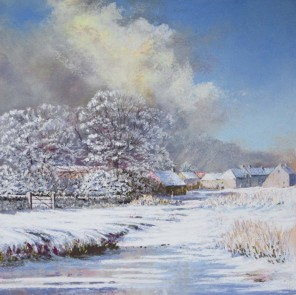 Across the Ford, Winter @ Davidson Fine Art