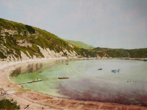 Summer Morning, Lulworth Cove. Sold