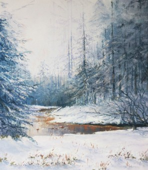 Through the pines, Winter  @ Davidson Fine Art